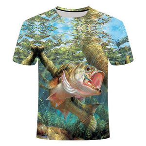 Fishing Digital Fishing T Shirt Monster Bass