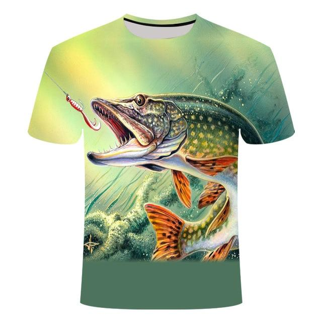 Fishing Digital Fishing T Shirt Pike