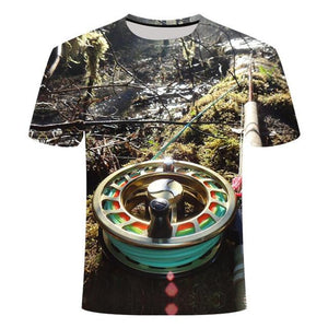 Fishing Digital Fishing T Shirt Fly Reel
