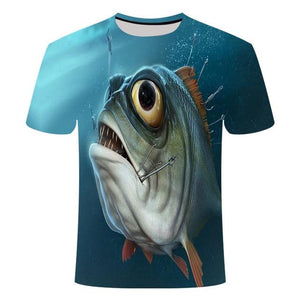 Fishing Digital Fishing T Shirt Piranah