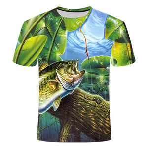 Fishing Digital Fishing T Shirt Big Lunker