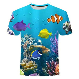 Fishing Digital Fishing T Shirt Tropical Fish