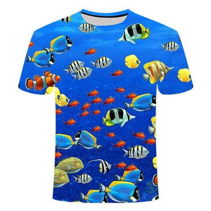 Fishing Digital Fishing T Shirt Tropical Fish 2