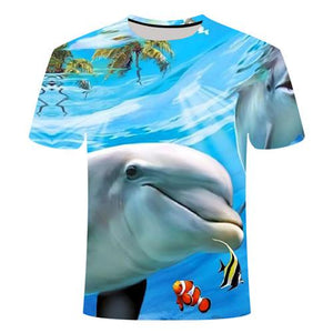 Fishing Digital Fishing T Shirt Dolphin