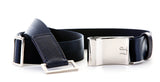 Holdur H Belt, Marine. Luxury leather accessories for men & women.