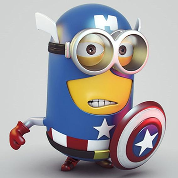 Minion Captain America