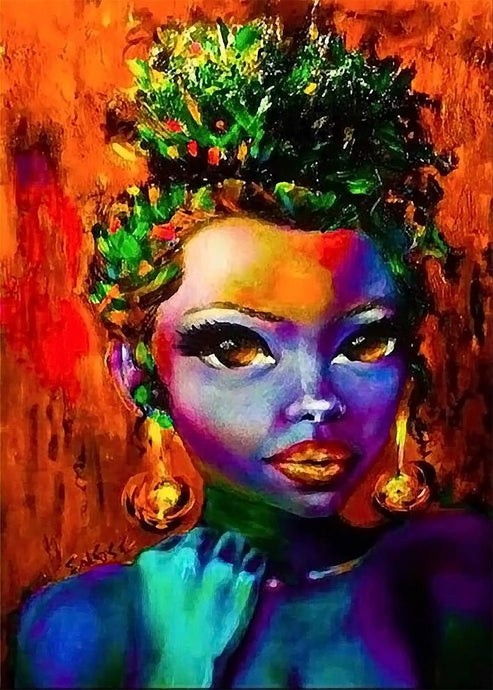 African woman colourful