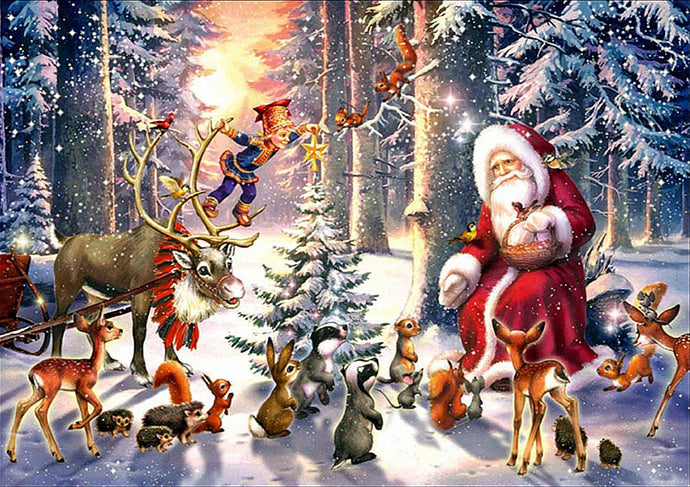 Father Christmas in the forrest