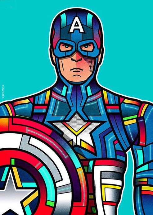 Captain America coloured  Bust