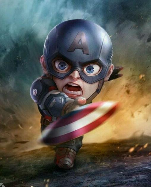 Chibi Captain America small figurine