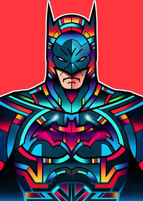 Customized Multi coloured Batman