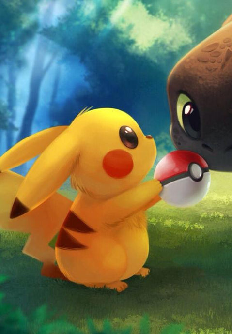 Pokemon Piikachu and friend