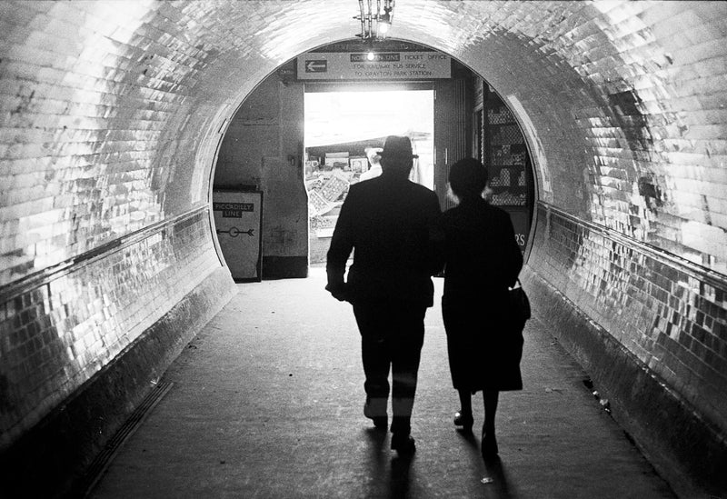 Couple at Finsbury Station 1968
