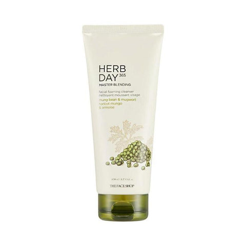 the face shop Herb Day 365 Cleansing Foam Mungbeans & Mugwort