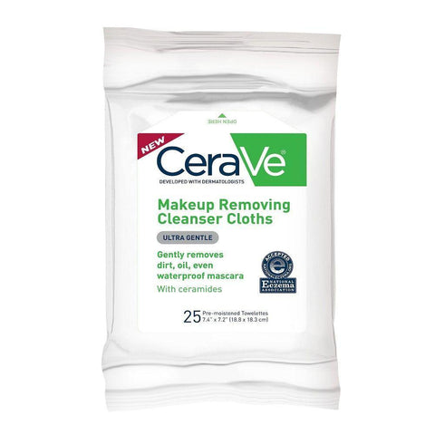 CeraVe Makeup Removing Cleanser Cloths (25ct)