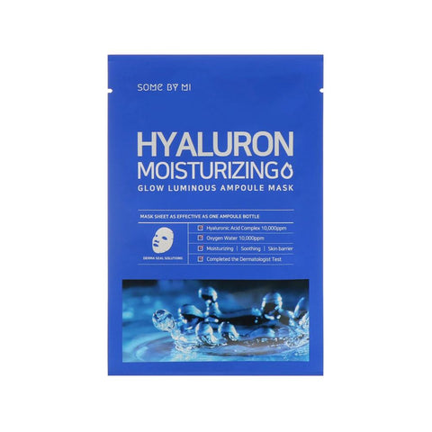 Some By Mi Hyaluron Moisturising Glow Luminous Ampoule Mask (1pc)