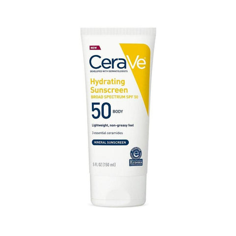 CeraVe Hydrating Sunscreen Broad Spectrum SPF50 (150ml)