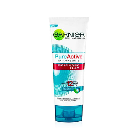 Garnier Pure Active Anti-Acne White Acne & Oil Clearing Foam (100ml)