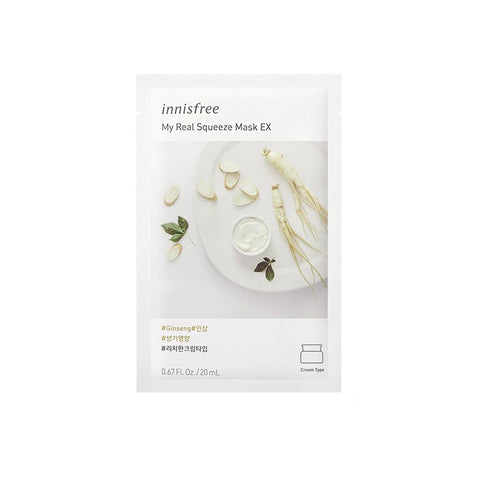 Innisfree My Real Squeeze Mask EX - Ginseng (1pc)