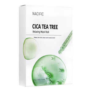 Nacific Cica Tea Tree Relaxing Mask Pack (10pcs)