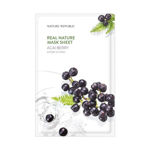 Nature Republic Real Nature Mask Sheet - Acai Berry (1pc)