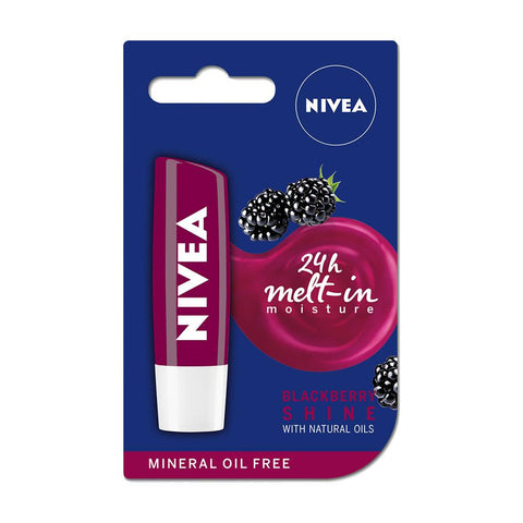 Nivea Blackberry Shine Caring Lip Balm (4.8g)