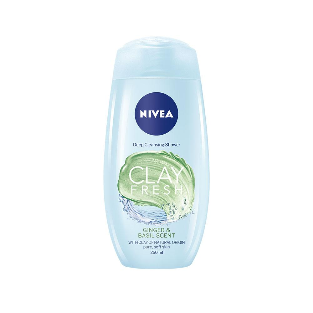 Nivea Deep Cleansing Shower Clay Fresh Ginger & Basil (250ml)