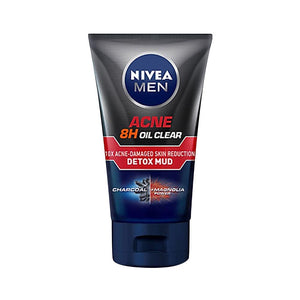 Nivea Men - Acne 8H Oil Clear Anti-Acne + Detox Mud Foam (100g)