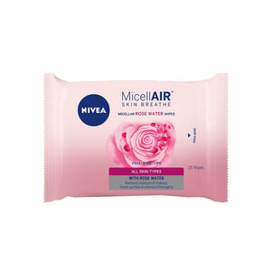 Nivea MicellAIR Skin Breathe Micellar Rose Water Wipes (25pcs)