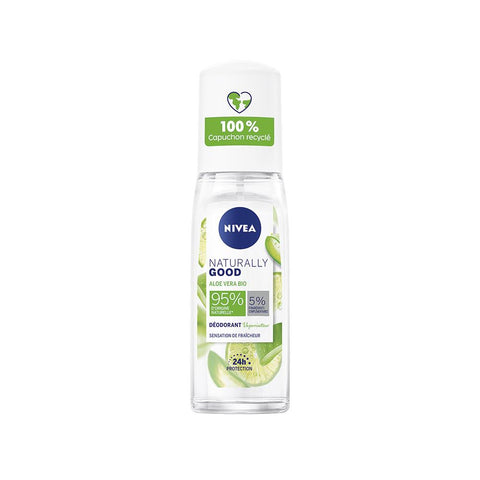 Nivea Naturally Good Bio Aloe Vera Deodorant Spray (75ml)
