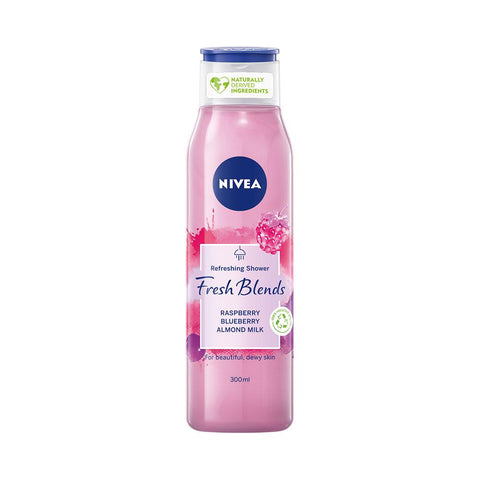 Nivea Refreshing Shower Fresh Blends With Raspberry Blueberry Almond Milk (300ml)