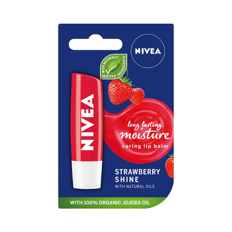 Nivea Strawberry Shine Caring Lip Balm (4.8g)