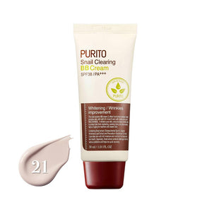 Purito Snail Clearing BB Cream SPF38/PA+++ #21 Light Beige (30ml)