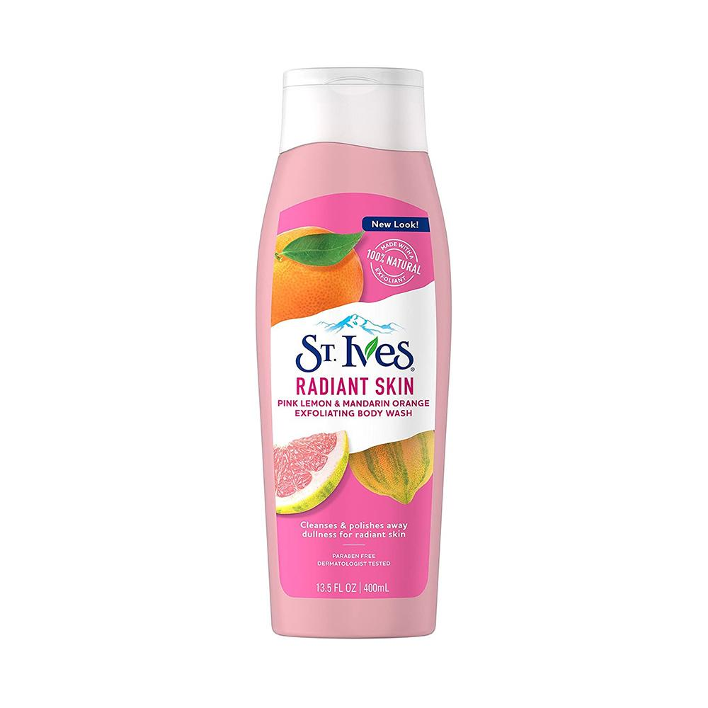 St. Ives Radiant Skin Pink Lemon & Mandarin Orange Exfoliating Body Wash (400ml)