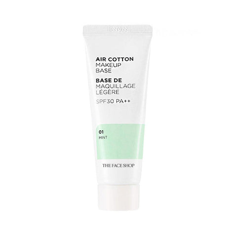 The Face Shop Air Cotton Make Up Base SPF30 PA++ #01 Mint (35g)