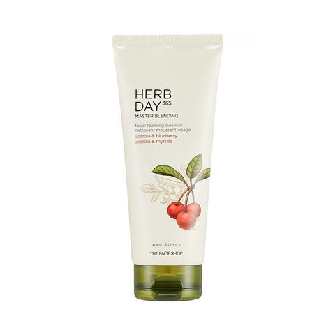 The Face Shop Herb Day 365 Cleansing Foam Acerola & Blueberry (170ml)