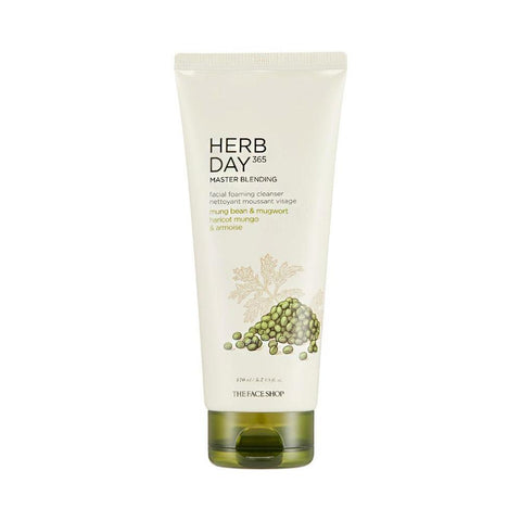 The Face Shop Herb Day 365 Cleansing Foam Mungbeans & Mugwort (170ml)
