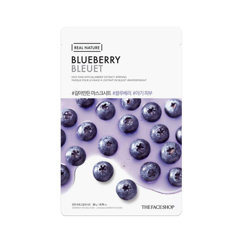 The Face Shop Real Nature Face Mask Blueberry (1pc)