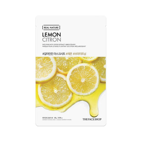 The Face Shop Real Nature Face Mask Lemon (1pc)