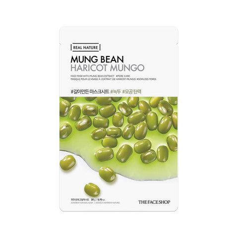 The Face Shop Real Nature Face Mask Mung Bean (1pc)