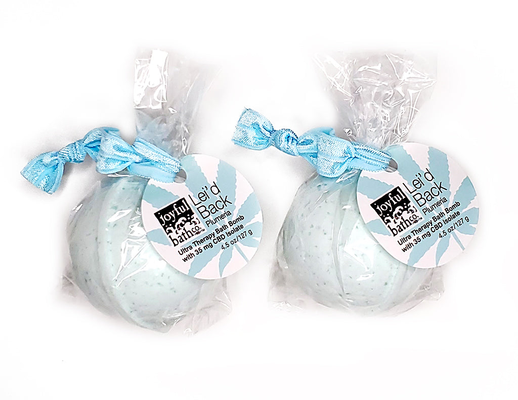 2 Hemp Bath Bombs - Lei'd Back & Lei'd Back
