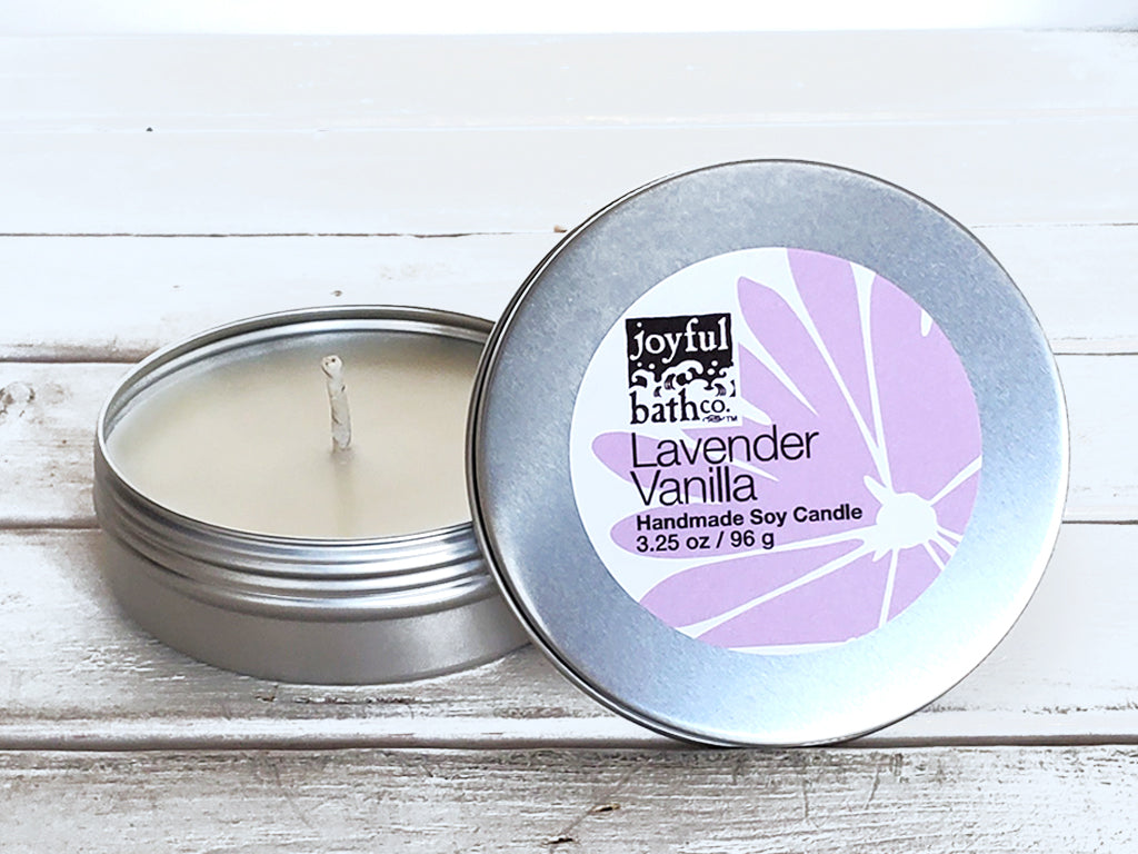 Lavender Candle Tin in 2 Sizes