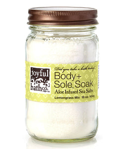 Aloe Infused Sea Salts - Lemongrass Mix