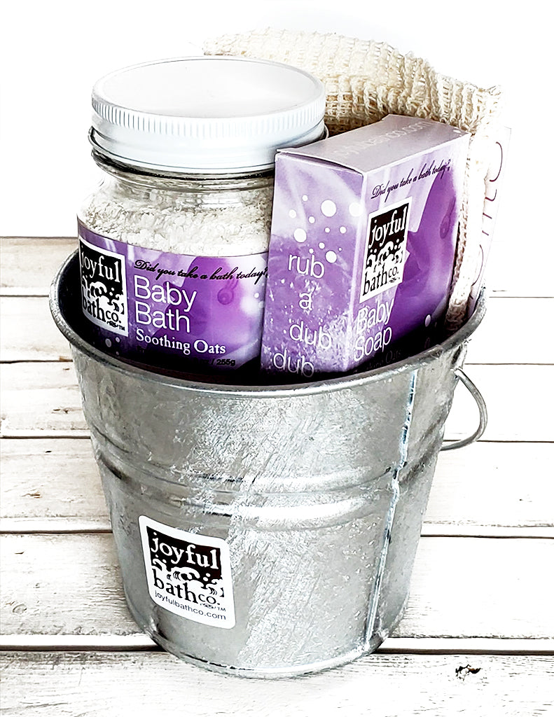 Baby Bath Bucket Gift Set in 2 Scents