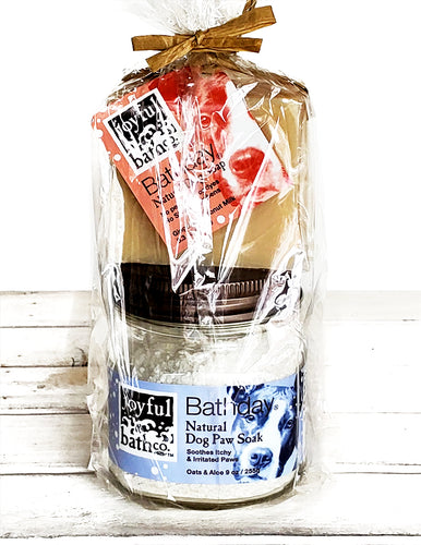 Bathday Dog Soap and Salt Combo