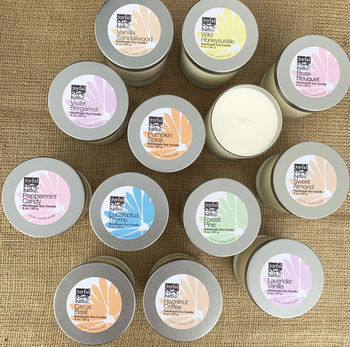 Soy Candles 8 oz in 13 Scents