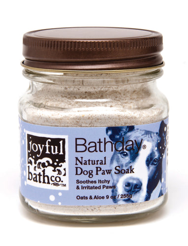 Bathday® Natural Dog Paw Soak - Oats and Aloe