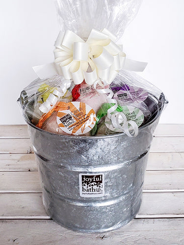 Large Hemp Bath Bucket Gift Set