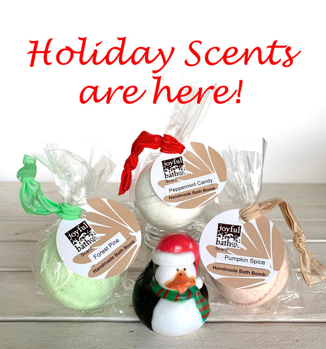Holiday Bath Bomb Scents