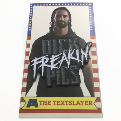 The Textslayer Enamel Pin